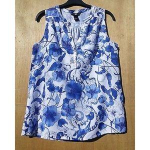 H&M Sleeveless Floral Blouse